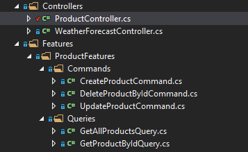 features folder api CQRS with MediatR in ASP.NET Core 3.1 - Ultimate Guide