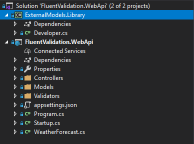 fl projectstructure How to Use Fluent Validation in ASP.NET Core 3 - Powerful Validations
