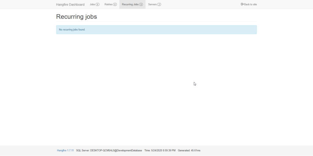 hangfire recurring Hangfire in ASP.NET Core 3.1 - Background Jobs Made Easy