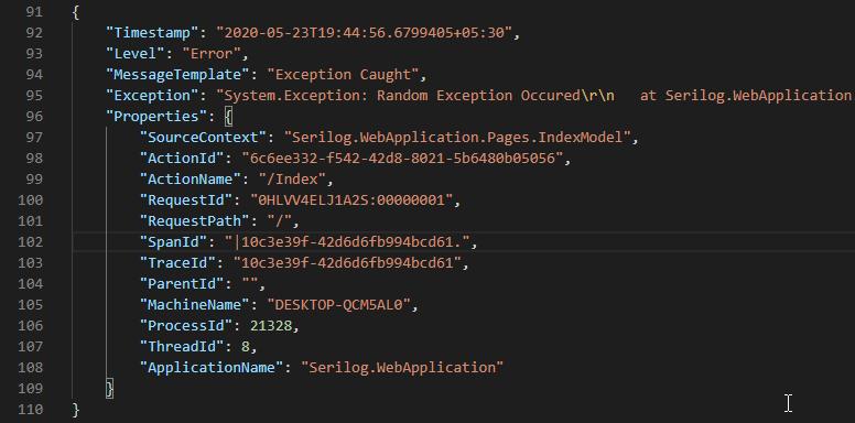 serilog structure log Serilog in ASP.NET Core 3.1 - Structured Logging Made Easy