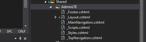 folder How to Integrate AdminLTE with ASP.NET Core? Detailed
