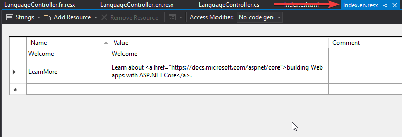 res en Globalization and Localization in ASP.NET Core - Detailed
