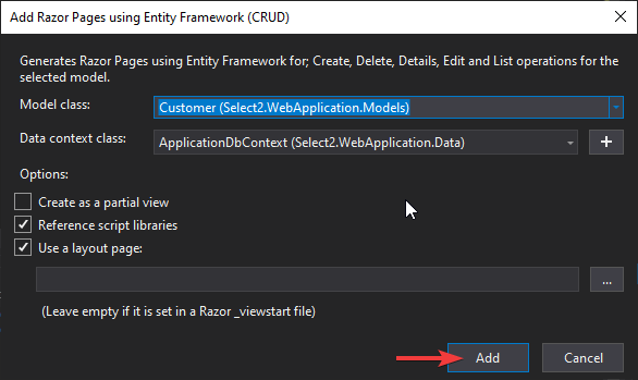 add new razor pages Select2 jQuery plugin in ASP.NET Core - Comprehensive Guide