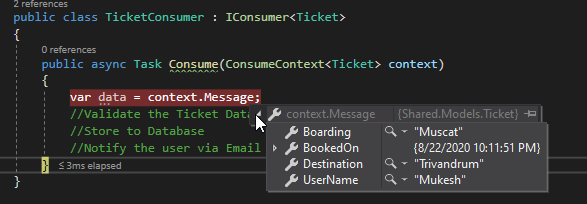 consumerMessage RabbitMQ with ASP.NET Core - Microservice Communication with MassTransit